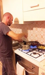 Cooking in action...