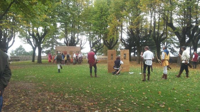 Archery competition - it did look good fun though they seemed to treat it as very serious business!