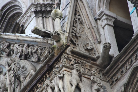 What are those things sticking out? Apparently they're not gargoyles.
