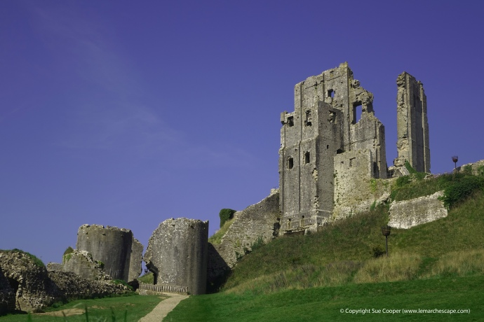The beautiful Corfe Castle