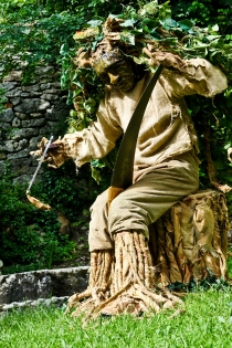 "And this was maybe my favourite, a storyteller and a ""tree"" who played the saw."