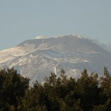 And from here you can see Mount Etna looming over the city from a distance.